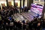 Торжественный прием в парламенте Грузии по случаю голосования в Европарламенте по визам