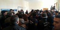 Акция протеста уволенных работников химического завода Азот