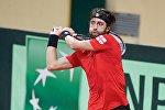 Николоз Басилашвили в матче на Кубок Дэвиса