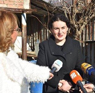 Госминистр по примирению и гражданскому равноправию Кетеван Цихелашвили