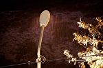 Снежная метель ночью