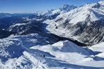 Сванети, вид с горы Тетнулди зимой