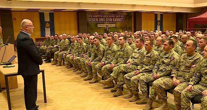 Леван Изория на встрече с грузинскими военными в Германии