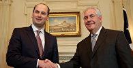 Госсекретарь США Рекс Тиллерсон и Министр иностранных дел Грузии Михаил Джанелидзе на встрече в Вашингтоне, США