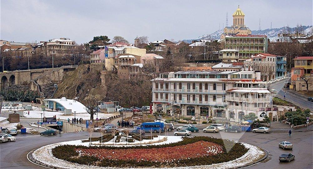 Центр Тбилиси зимой