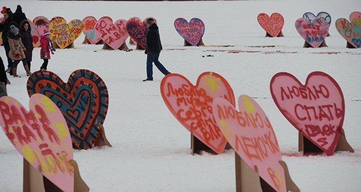 Участники флешмоба 1000 сердец