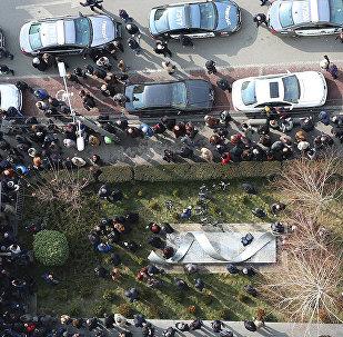 Акция протеста у мэрии Тбилиси