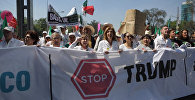 Протест против Трампа в Мексике