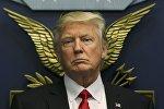Президент США Дональд Трамп в Пентагоне, Вашингтон