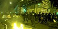 საფრანგეთის პოლიციამ პარიზში მომიტინგეების წინააღმდეგ ცრემლსადენი გაზი გამოიყენა