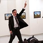 მევლუთ ალთინთაშს ხელში იარაღი უჭირავს თურქეთში რუსეთის ელჩის, ანდრეი კარლოვის მკვლელობის შემდეგ. ეს ფოტო გადაიღო ბურჰან ოზბილიჩიმ The Associated-დან. Panos Pictures-მა World Press Photo Awards 2017 კონკურსზე მოიპოვა პირველი პრიზი კატეგორიაში საგანგებო ახალი ამბავი