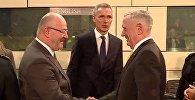 Знакомство министров обороны Грузии и США Левана Изория и Джеймса Мэттиса