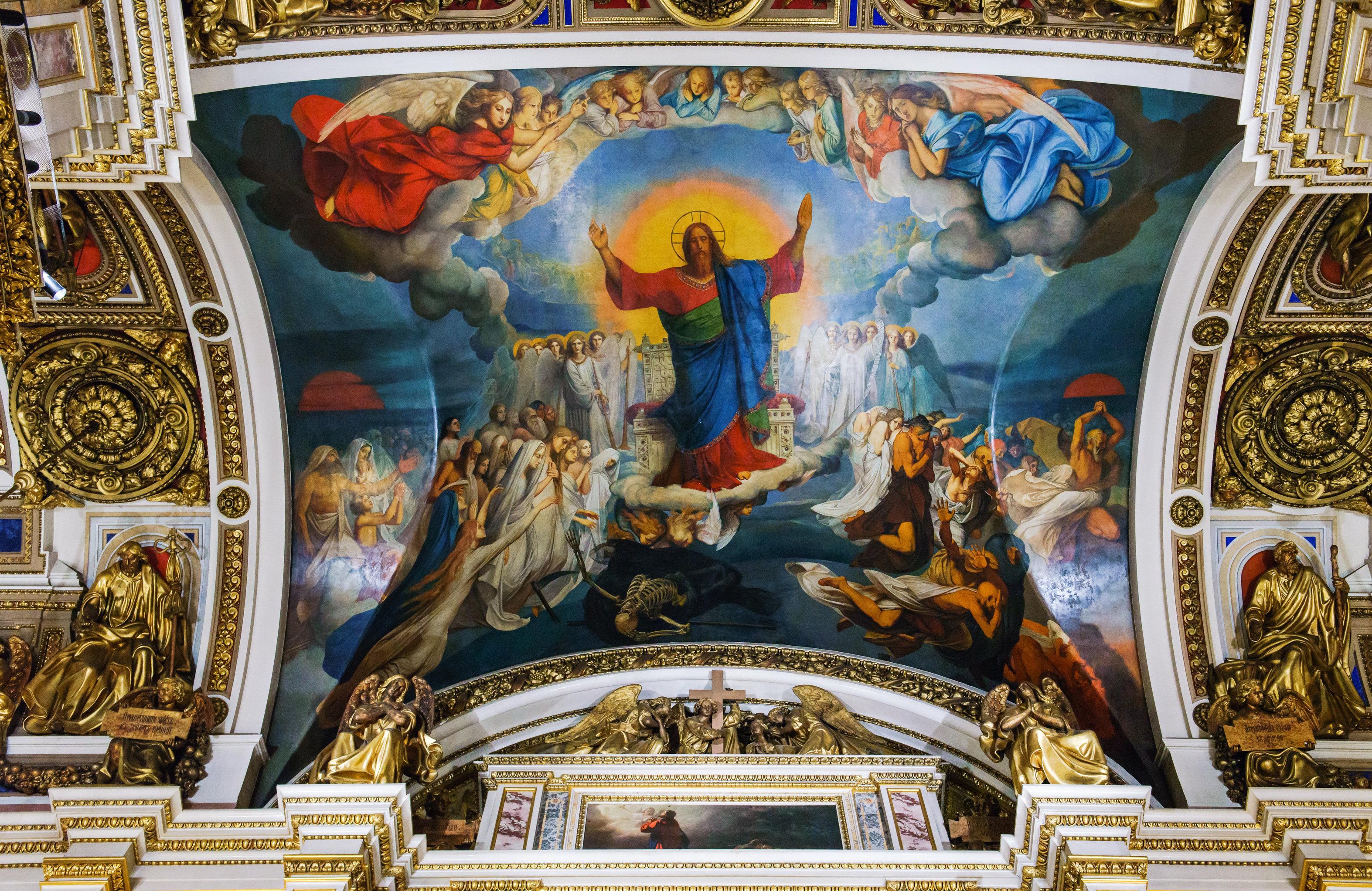 Роспись Страшный суд (художник Ф. Бруни) над залом Исаакиевского собора
