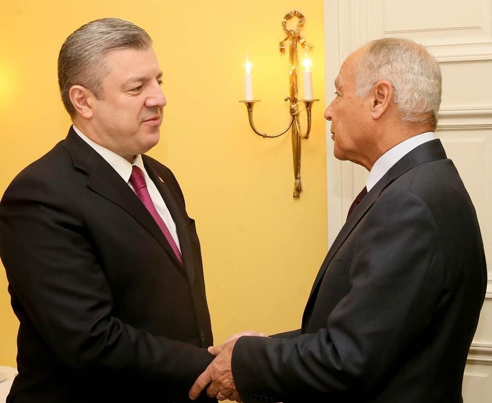 Премьер Грузии Георгий Квирикашвили и генсек Лиги арабских государств Ахмед Абуль Гейт