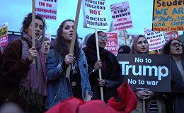 ტრამპის დიდ ბრიტანეთში ვიზიტის წინააღმდეგ საპროტესტო აქცია გაიმართა ლონდონში