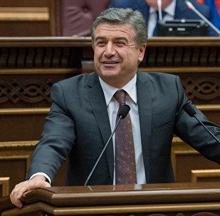 Карен Карапетян в Национальном собрании РА, 08.02.2017