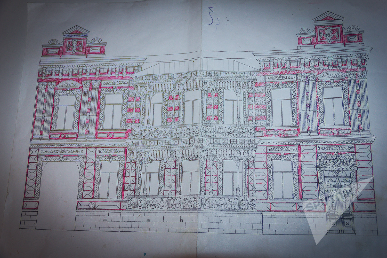 Проект фасада дома князя Васила Габашвили