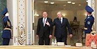 Встреча президентов Грузии и Беларуси Георгия Маргвелашвили и Александра Лукашенко