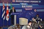 Глава правительства Аджарии Зураб Патарадзе на форуме в Астане