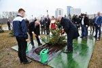 Президенты Грузии и Беларуси Георгий Маргвелашвили и Александр Лукашенко посадил хвойное дерево в Минске