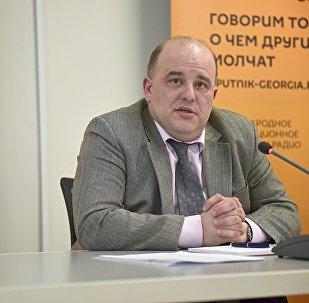 Эксперт из Грузии Вахтанг Маисая участвует в видеомосте с Минском