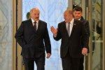 Президент Беларуси Александр Лукашенко и президент Грузии Георгий Маргвелашвили