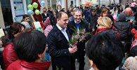 Мэр Тбилиси Давид Нармания на праздновании Дня матери