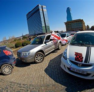 ავტომობილისტების საპროტესტო აქცია საწვავის აქციზის გაძვირების წინააღმდეგ