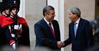 Встреча премьеров Грузии и Италии Георгий Квирикашвили и Паоло Джентилони