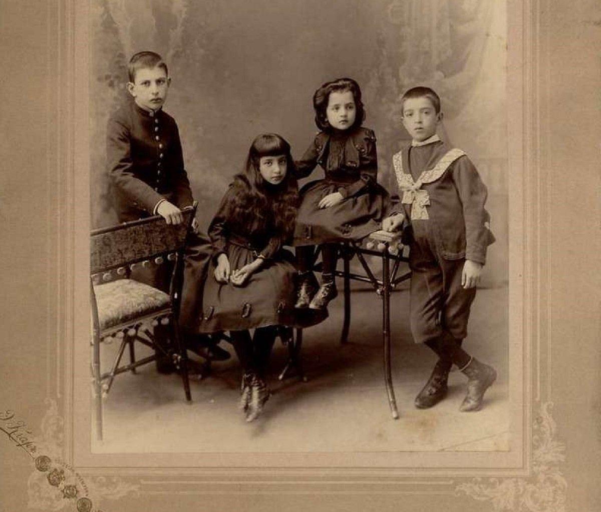 Ясон, Даро, Нино и Георгий Габашвили