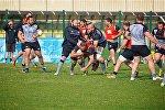Сборная Грузии по регби проводит тренировку перед матчем с командой России