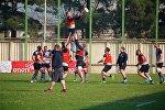 Сборная Грузии по регби проводит тренировку