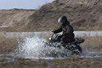 Испытания мотовездехода в Калужской области