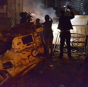 Телеоператоры во время беспорядков в Батуми