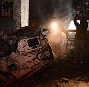 Последствия беспорядков и погромов в центре Батуми