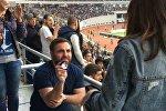 Давид Нанобашвили сделал предложение своей возлюбленной Мариам Адеишвили на матче Россия - Грузия по регби