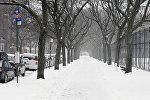 Последствия снежного шторма в США