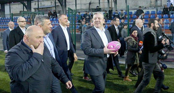 Премьер-министр Грузии Георгий Квирикашвили осмотрел новую регбийную базу в Батуми
