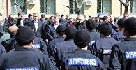 Премьер-министр Грузии Георгий Квирикашвили на встрече с полицейскими в Батуми