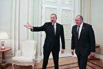 Встреча президентов Грузии и Азербайджана Георгия Маргвелашвили и Ильхама Алиева