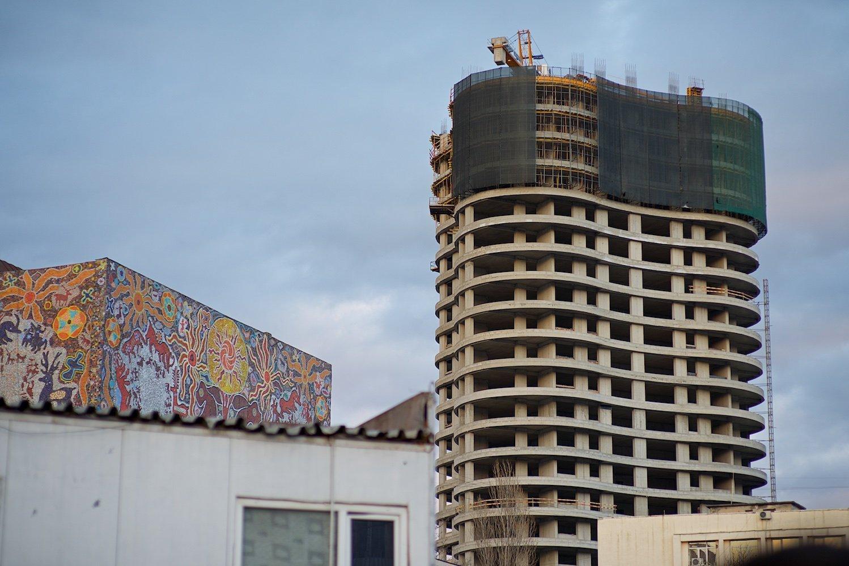 Строительство нового жилого корпуса в грузинской столице