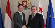 Петер Сийярто и Георгий Квирикашвили