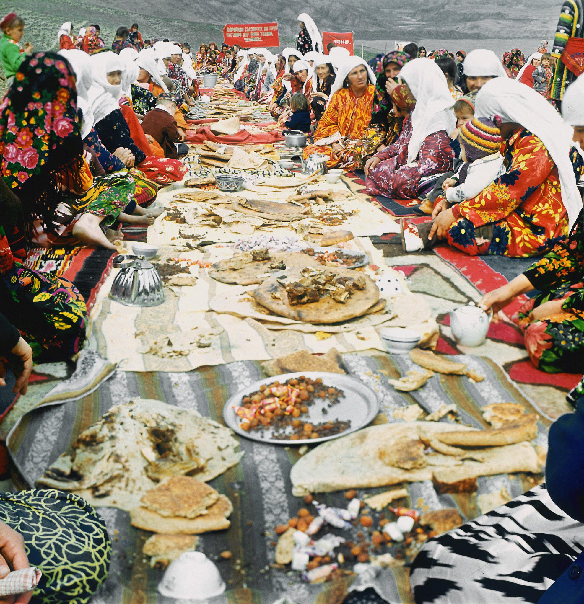 Празднование праздника Навруз в таджикском кишлаке