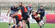 Cборная Грузии по регби готовится к матчу с румынами