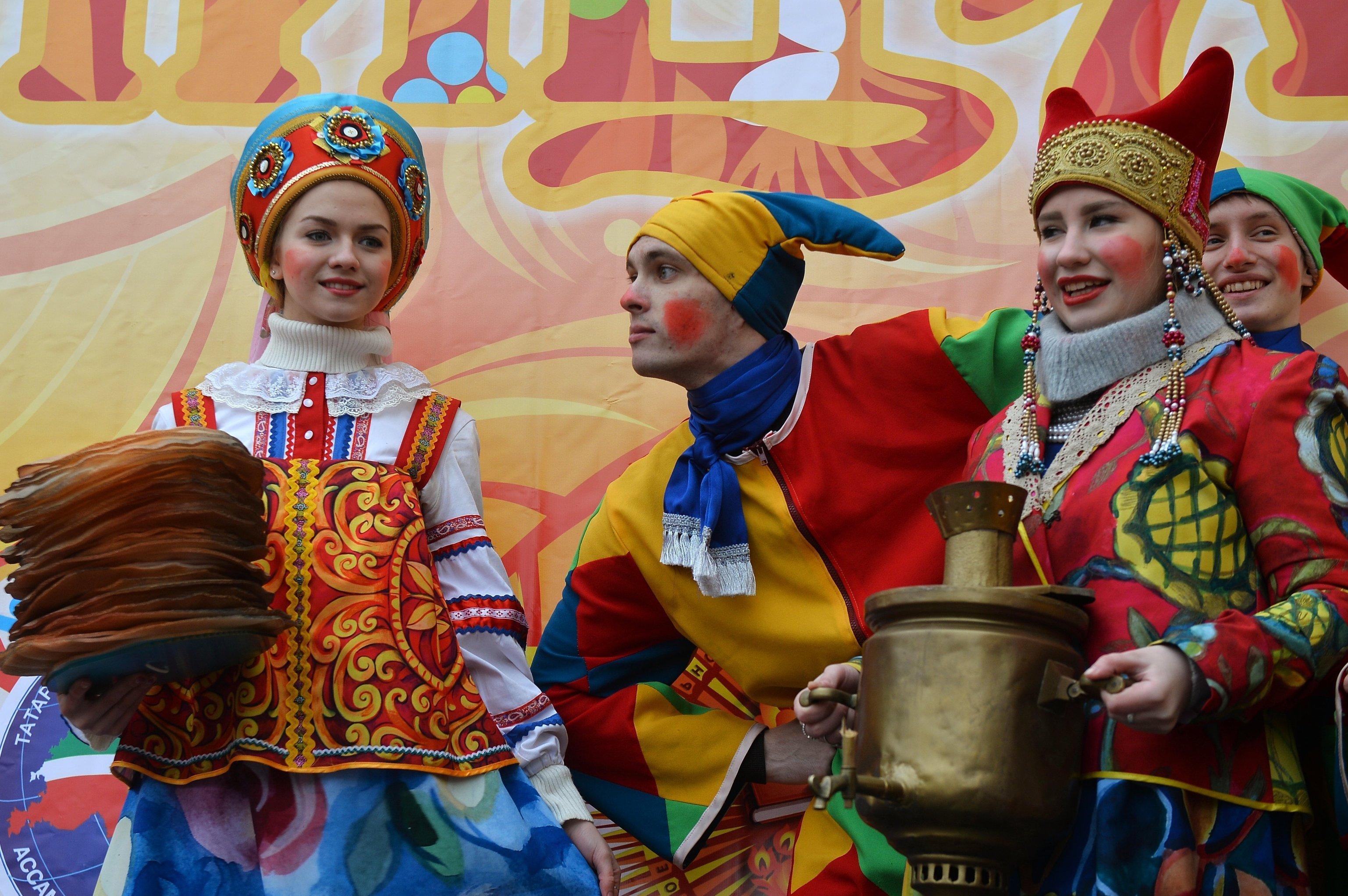 Празднование Масленицы в Казани