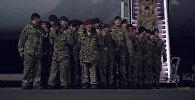 Кадры прибытия международного батальона НАТО в Эстонию