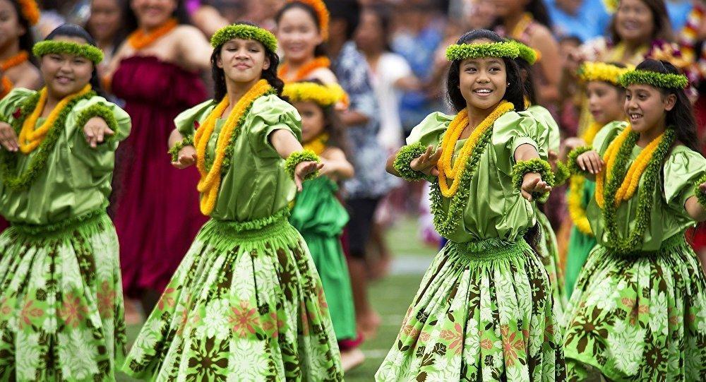 Танец женщин на Гавайях