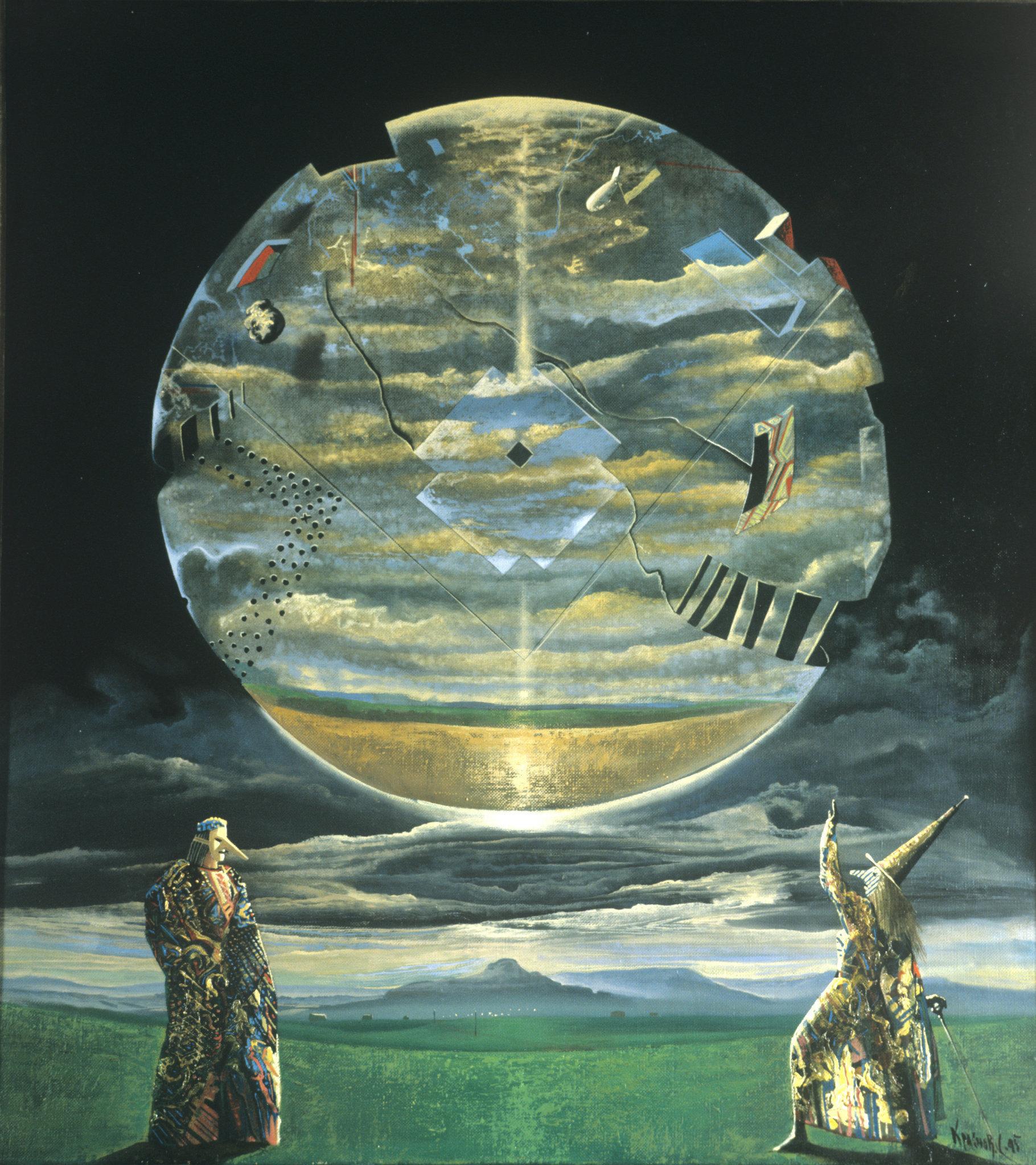 Картина Два астролога Большой Луны. Художник Сергей Краснов