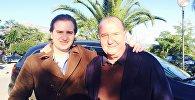 Иоане Багратион-Мухранский с отцом Багратом Багратион-Мухранским