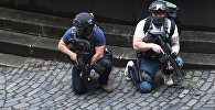 Вооруженные сотрудники специального подразделения у Вестминстерского моста в Лондоне после теракта